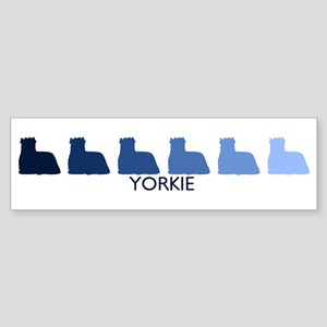 Yorkie (blue color spectrum) Bumper Sticker