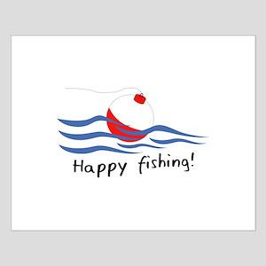 HAPPY FISHING Poster Design