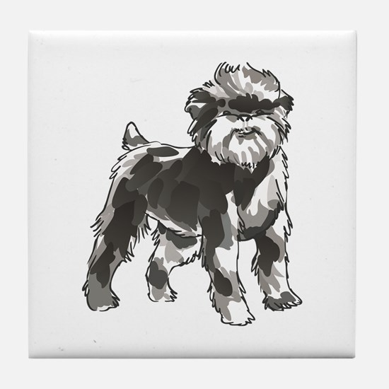 AFFENPINSCHER DOG Tile Coaster
