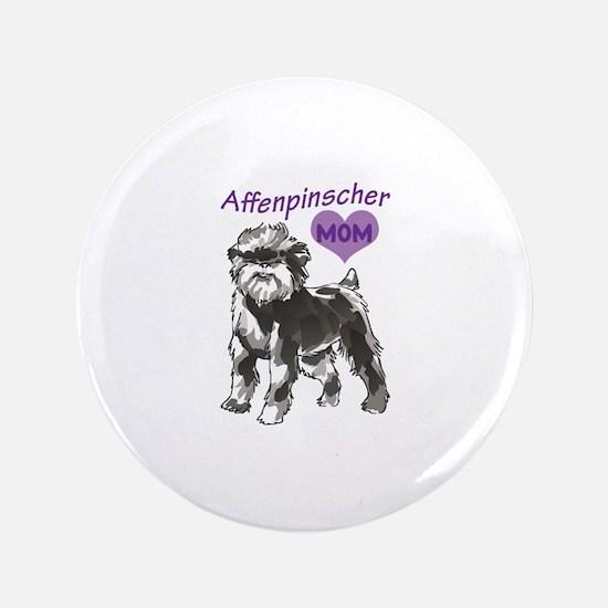 """AFFENPINSCHER MOM 3.5"""" Button"""