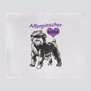 AFFENPINSCHER MOM Throw Blanket