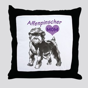 AFFENPINSCHER MOM Throw Pillow
