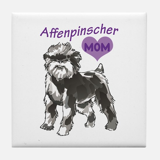 AFFENPINSCHER MOM Tile Coaster