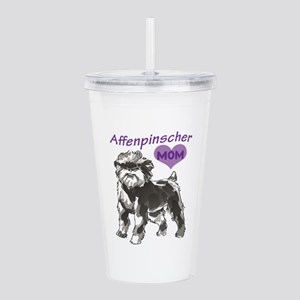 AFFENPINSCHER MOM Acrylic Double-wall Tumbler