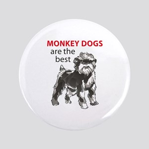 """MONKEY DOGS 3.5"""" Button"""