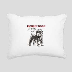MONKEY DOGS Rectangular Canvas Pillow