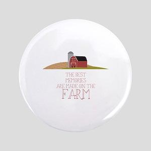 """Farm Memories 3.5"""" Button"""