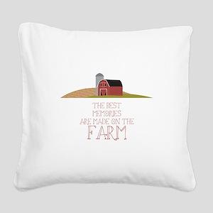 Farm Memories Square Canvas Pillow