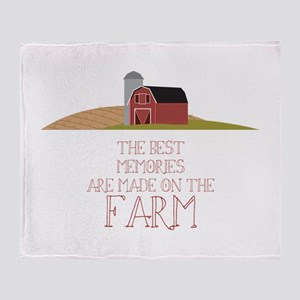 Farm Memories Throw Blanket