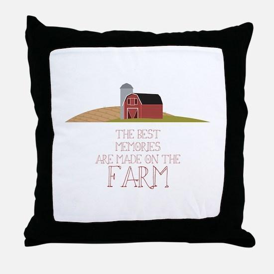Farm Memories Throw Pillow