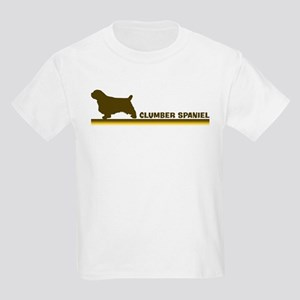 Clumber Spaniel (retro-blue) Kids Light T-Shirt