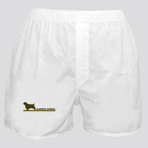 Clumber Spaniel (retro-blue) Boxer Shorts