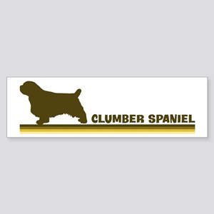 Clumber Spaniel (retro-blue) Bumper Sticker