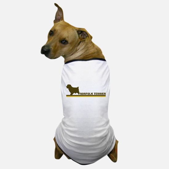 Norfolk Terrier (retro-blue) Dog T-Shirt
