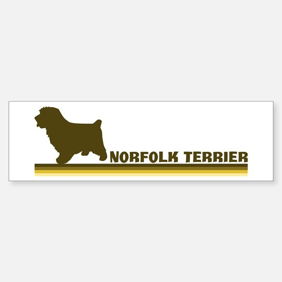 Norfolk Terrier (retro-blue) Bumper Bumper Bumper Sticker