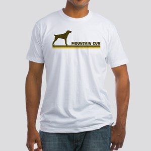 Mountain Cur (retro-blue) Fitted T-Shirt
