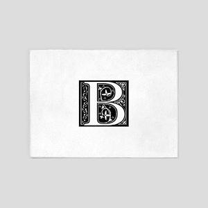 B-fle black 5'x7'Area Rug