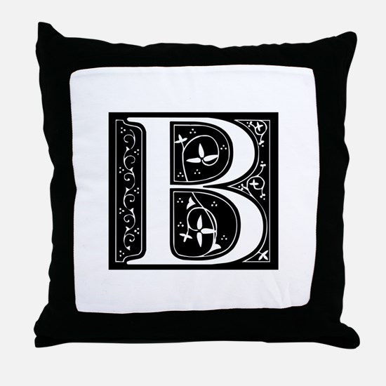 B-fle black Throw Pillow