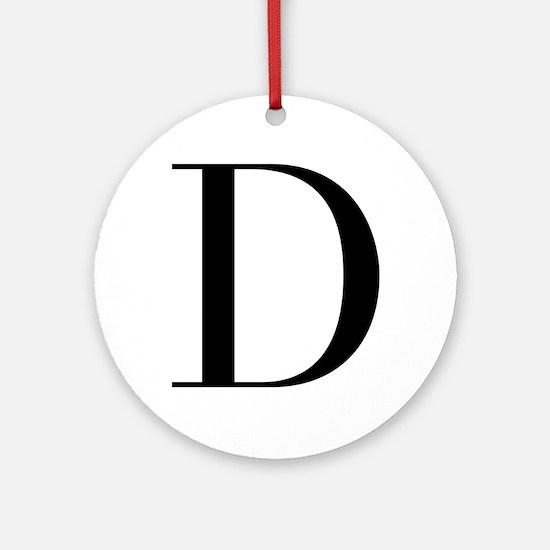 D-bod black Ornament (Round)