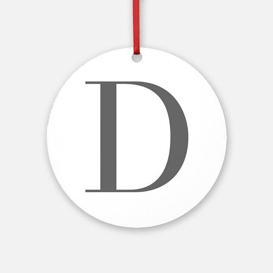 D-bod gray Ornament (Round)