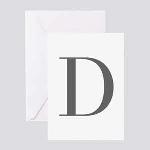 D-bod gray Greeting Cards