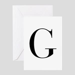 G-bod black Greeting Cards