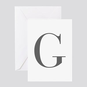 G-bod gray Greeting Cards