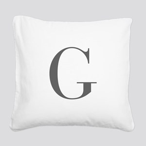 G-bod gray Square Canvas Pillow