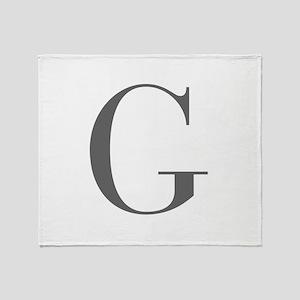 G-bod gray Throw Blanket
