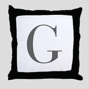 G-bod gray Throw Pillow