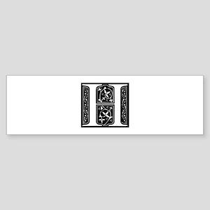 H-fle black Bumper Sticker