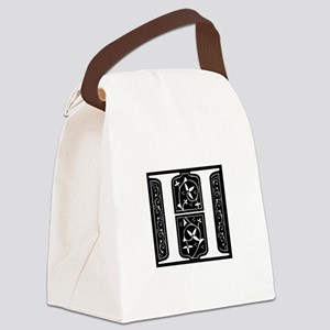 H-fle black Canvas Lunch Bag