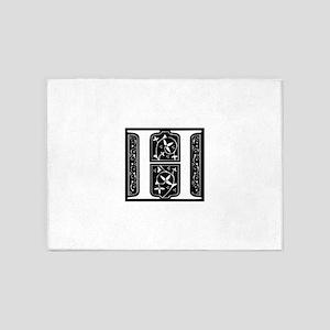 H-fle black 5'x7'Area Rug