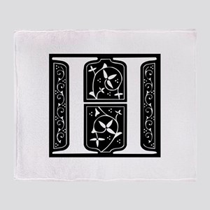 H-fle black Throw Blanket