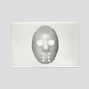 Halloween Hockey Mask Rectangle Magnet