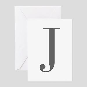 J-bod gray Greeting Cards