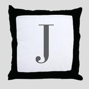 J-bod gray Throw Pillow