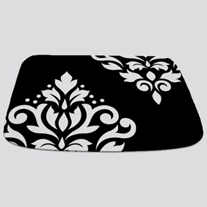 Scroll Damask Art I WB Bathmat