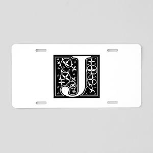 J-fle black Aluminum License Plate