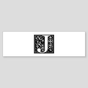 J-fle black Bumper Sticker