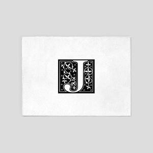 J-fle black 5'x7'Area Rug