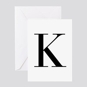K-bod black Greeting Cards