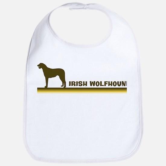 Irish Wolfhound (retro-blue) Bib