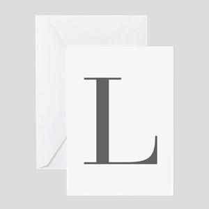 L-bod gray Greeting Cards