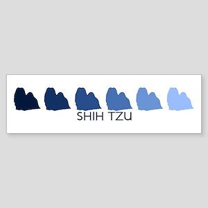 Shih Tzu (blue color spectrum Bumper Sticker