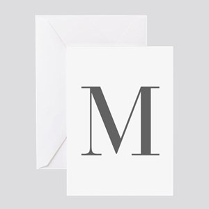 M-bod gray Greeting Cards