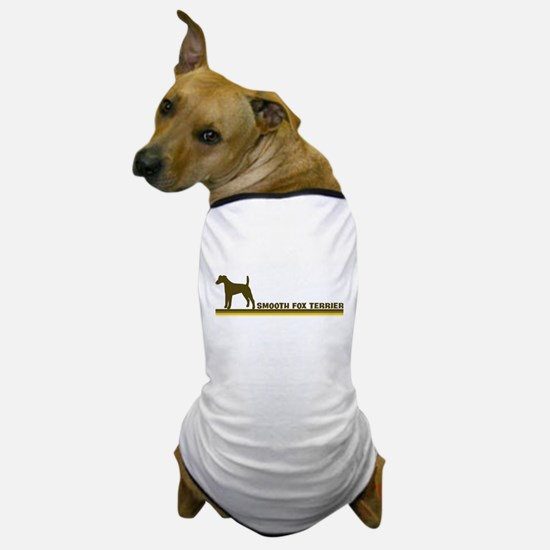 Smooth Fox Terrier (retro-blu Dog T-Shirt
