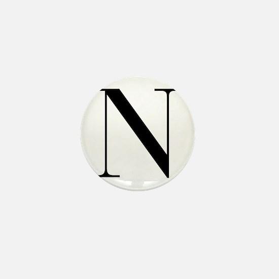 N-bod black Mini Button