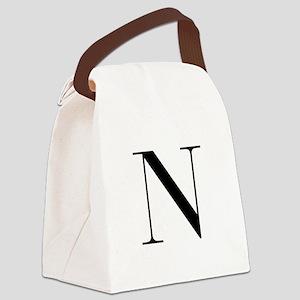 N-bod black Canvas Lunch Bag