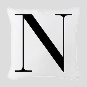 N-bod black Woven Throw Pillow